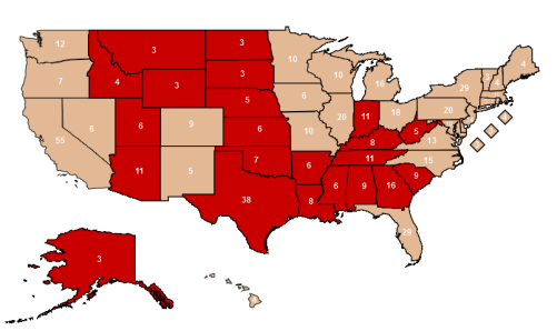2012 GOP Safe Red States